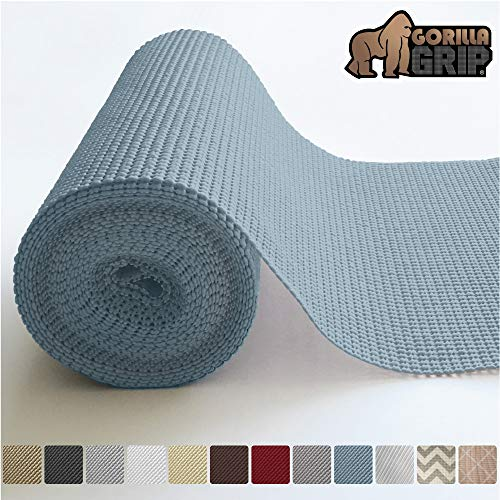 (Gorilla Grip Original Drawer and Shelf Liner, Non Adhesive Roll (17.5 Inch x 10 FT) Durable and Strong, Grip Liners for Drawers, Shelves, Cabinets, Storage, Kitchen and Desks (Light Blue))