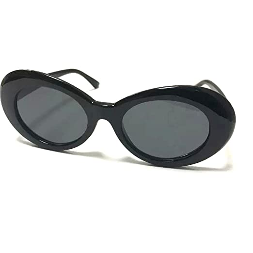 b0d177ea683 Clout Sunglasses Thick Goggles Oval Frame Retro Style Bold Round Lens Black