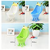TOYANDONA Baby Boys Potty Frog Cute Cartoon Suction Standing Training Urinal Groove Bathroom Accessories Pee Trainer Toilet Sky-blue
