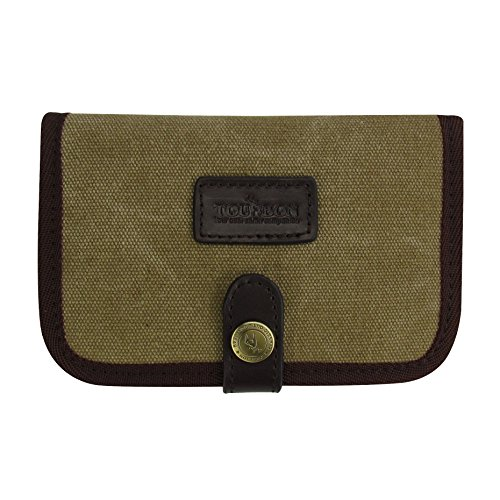 TOURBON Canvas Rifle Ammo Pouch Cartridge Wallet Hunting License Holder ()