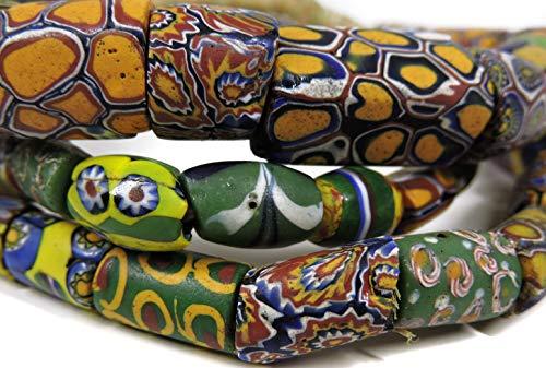 (Millefiori Venetian Trade Beads Mixed Africa 28 Inch)