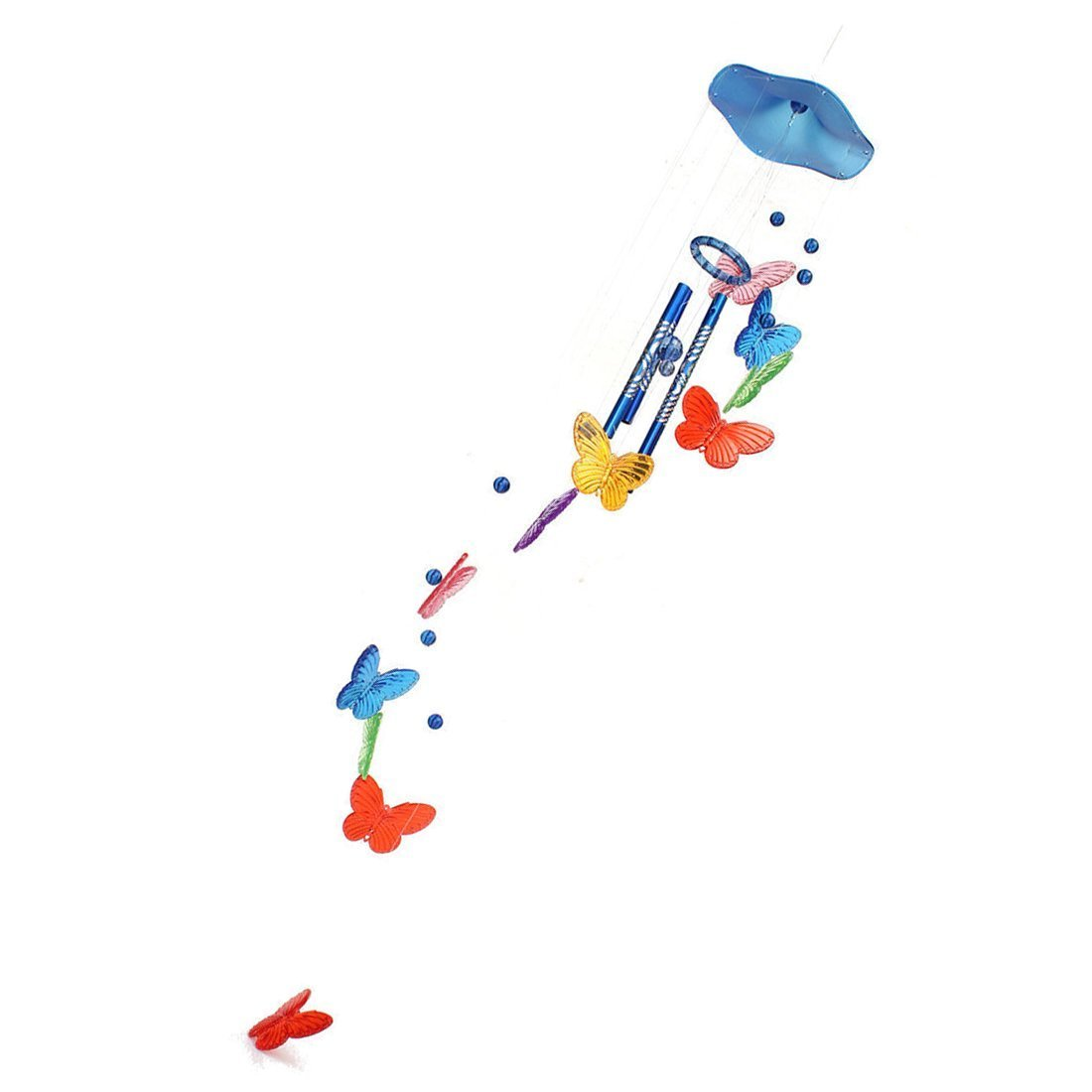 Schmetterling Campanula TOOGOO R Bunte Blau Windspiel Klangroehren Schmetterling Feng Shui Klangspiel Haus Deko