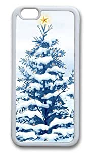 MOKSHOP Adorable Christmas Snow Trees Soft Case Protective Shell Cell Phone Cover For Apple Iphone 6 (4.7 Inch) - TPU White