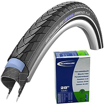 2x Schwalbe Reifen Marathon PLUS 32-622 28 Zoll Draht Reflex schwarz
