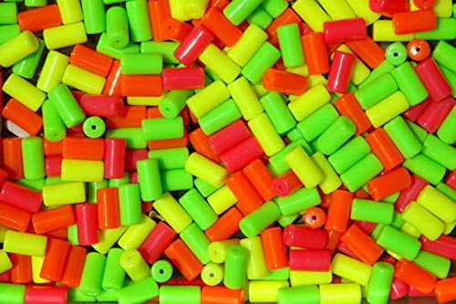 Neon Tube Lava - OutletBestSelling Beadwork Art Crafts 100pc NEON Mix Tube Beads for Bird Toys Crafts Rave Jewelry