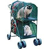 Kittywalk Double Decker Pet Stroller, Green