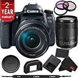 Canon EOS 77D DSLR Digital Camera 18-135mm Lens International Model Bundle
