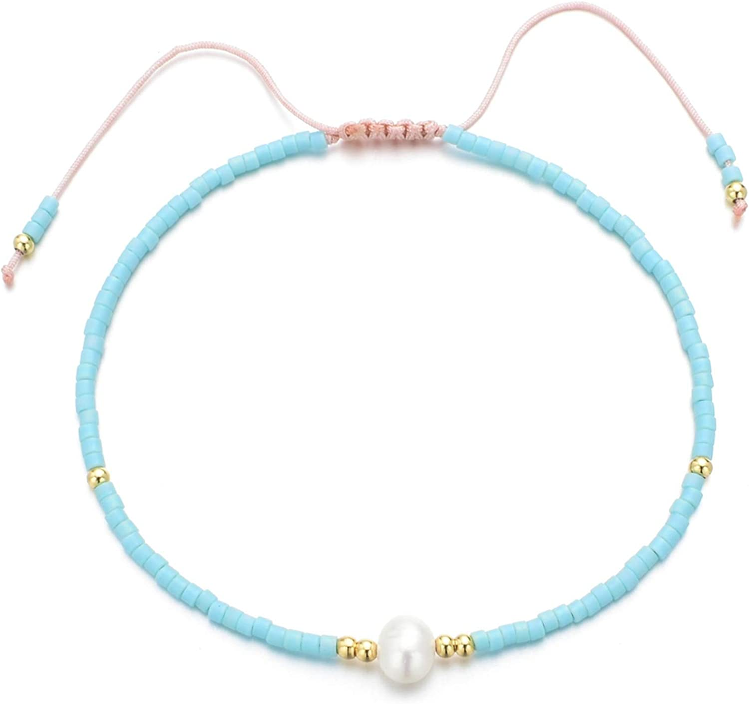 Minimalism Thin Bohemian Bracelet Femme Friendship Bracelets for Women Pearl Bracelet Crystal Seed Beads Jewelry