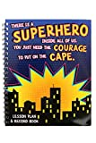 Renewing Minds Superheroes Lesson Plan & Record Book, Purple Sky with Dark Cityscape, 9 x 12 Inches