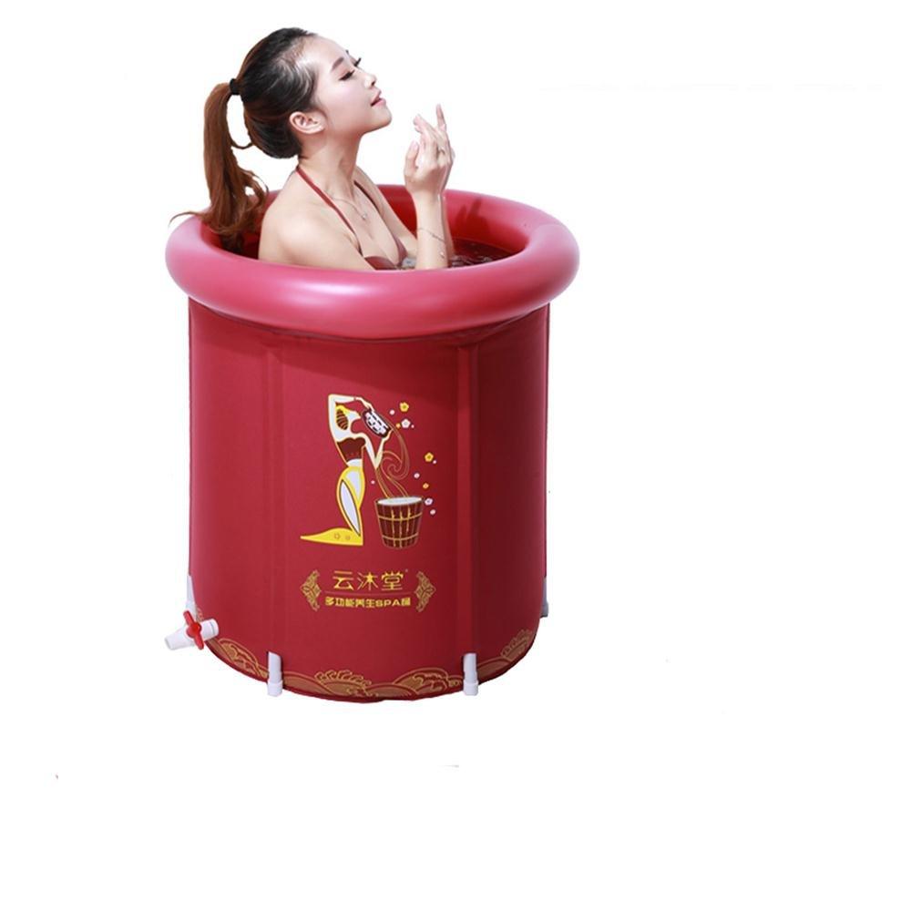 大人気 TOYM US B0747NC49Z Folding Tub TOYM Red withインフレータブル浴槽 Red (Small) B0747NC49Z, casualyanagi:9e2e0b1a --- yelica.com