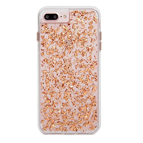 - Case-Mate iPhone 8 Plus Case - KARAT - Metallic Rose Gold Highlights - Slim Protective Design for Apple iPhone 8 Plus - Rose Gold