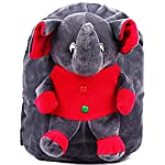 DZert Soft Plush Kids' School Bag (Multi-Color, 2 to 6 Years)