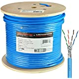 Mediabridge Solid Copper Cat7 Ethernet Cable (1000 Feet, Blue) - Low-Smoke Zero Halogen Jacket (Part# C7-1000-BLUE)
