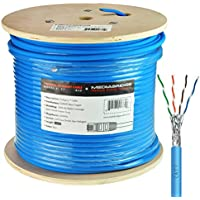 Mediabridge Solid Copper Cat7 Ethernet Cable (1000 Feet, Blue) - Low-Smoke Zero Halogen Jacket (Part# C7-1000-BLUE )