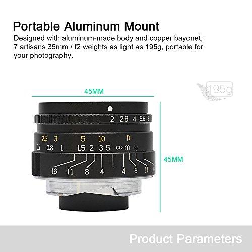 7artisans 35mm F2 Manual Prime Lens for Leica M Mount
