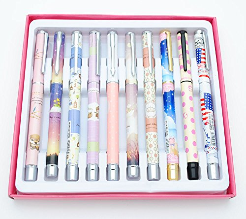 10pcs Hero Student Fountain Pen for Children (for Little Girl) (Girl Fountain)