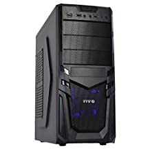 VIVO ATX Mid Tower Computer Gaming PC Case / Black Desktop Shell / 4 Fan Mounts, USB 3.0 Port (CASE-V01)