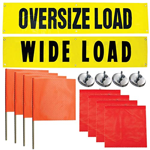 Vulcan Reversible Wide/Oversize Load Banners, Flags, and Magnets Kit