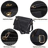 Leather Messenger Bag for Men & Women 14inch laptop Bag for Travel College Work - Handmade by LEVOGUE