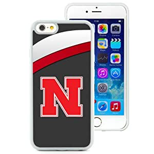 Fashion And Unique iPhone 6 Cover Case Ncaa Big Ten Conference Football Nebraska Cornhuskers 8 Protective Cell Phone Hardshell Cover Case For iPhone 6 4.7 Inch TPU White Phone Case