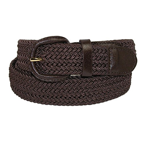 CTM Men's Elastic Braided Belt with Covered Buckle (Big & Tall Available), X-Large, -