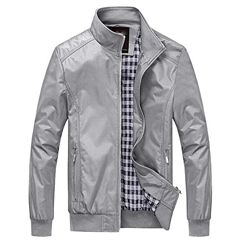 083689137193 Banstore Men Jacket Winter Warm Overcoat Outwear Slim Long Trench Zipper  Coat Gray