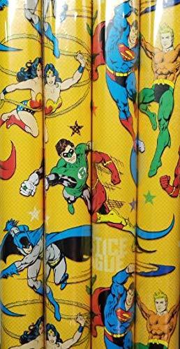 Papel de regalo con temática de Justice League, 20 pies ...