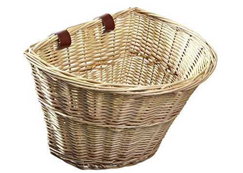 Wicker Pet Bicycle Basket (ProSource Wicker Front Handlebar Bike Basket Cargo)