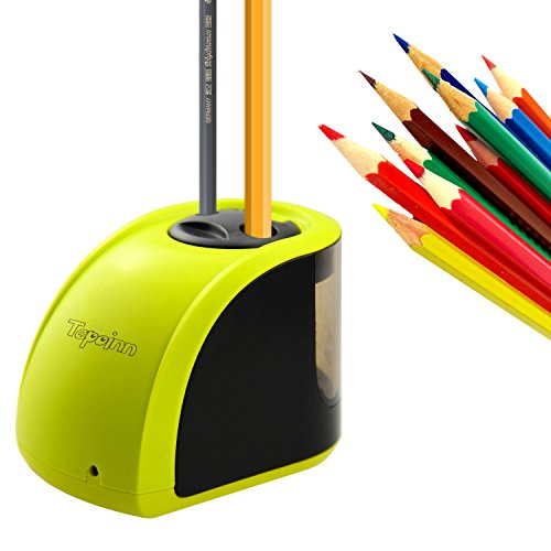 Tepoinn Electric Pencil Sharpener with 2 Holes Design for Different Size...