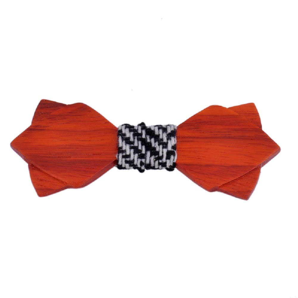Tidoo Jewellery Mens Vintage Solid Wood Bow Tie Personalized Deign Tie for Gentlemen