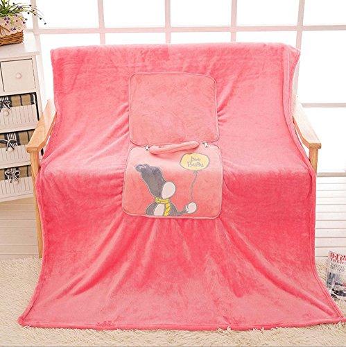 BSTcentelha 2 In 1 Cute Cartoon Plush Stuffed Animal Motifs Throw Pillow Blanket Set (Style E) by BSTcentelha (Image #2)