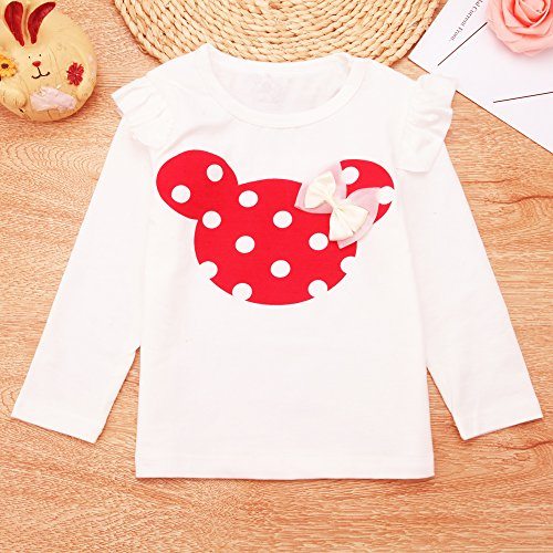 Baby Girl Clothes Infant Outfits Set 2 Pieces With Long Sleeved Tops + Pants (9-12 Months, Red)