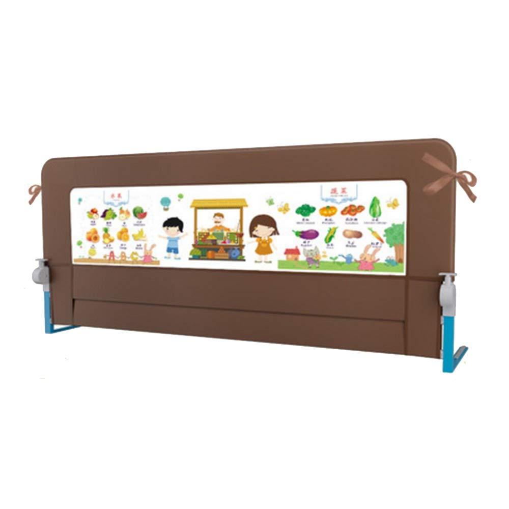 NAN liang おしゃれな子供用ベッドガードレール赤ちゃんの落ち着かないベッドフェンスベッドサイドベゼル衝突回避180cm /ブラウン   B07KJ4ZSLM