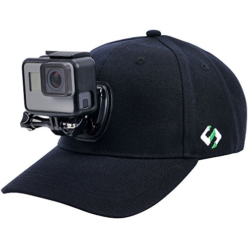 Smatree Baseball Hat with Quick Release Buckle Mount for GoPro 5 Session Hero 7/6/5/4/3+/3/2/1 (M 22.44-23.23)