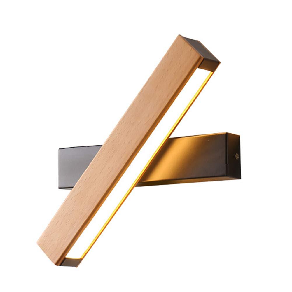CSDM.AI Hölzerne Wand Lampen Kreatives Europäisches LED-Acryl-Wandlicht Indoor-Lesung Rotierendes Warmes Licht (2 Größen),26X13x10cm