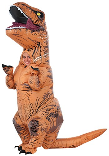 Inflatable T Rex Costume For Sale (Rubie's Costume Jurassic World Child's T-Rex Inflatable Costume with Sound, Multicolor)