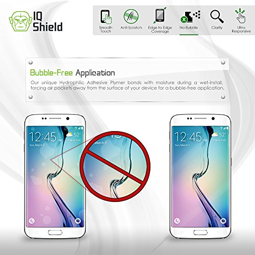 "iPhone 7 Screen Protector, IQ Shield LiQuidSkin Full Coverage Screen Protector for iPhone 7 (iPhone 6s 4.7"",iPhone 6) HD Clear Anti-Bubble Film - with"