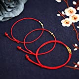 POLPEP phoenix nirvana gold anklets women girls red string silver hand-woven sexy woman gift national archaic animal year (hung chan [anklets] (kim 4mm)