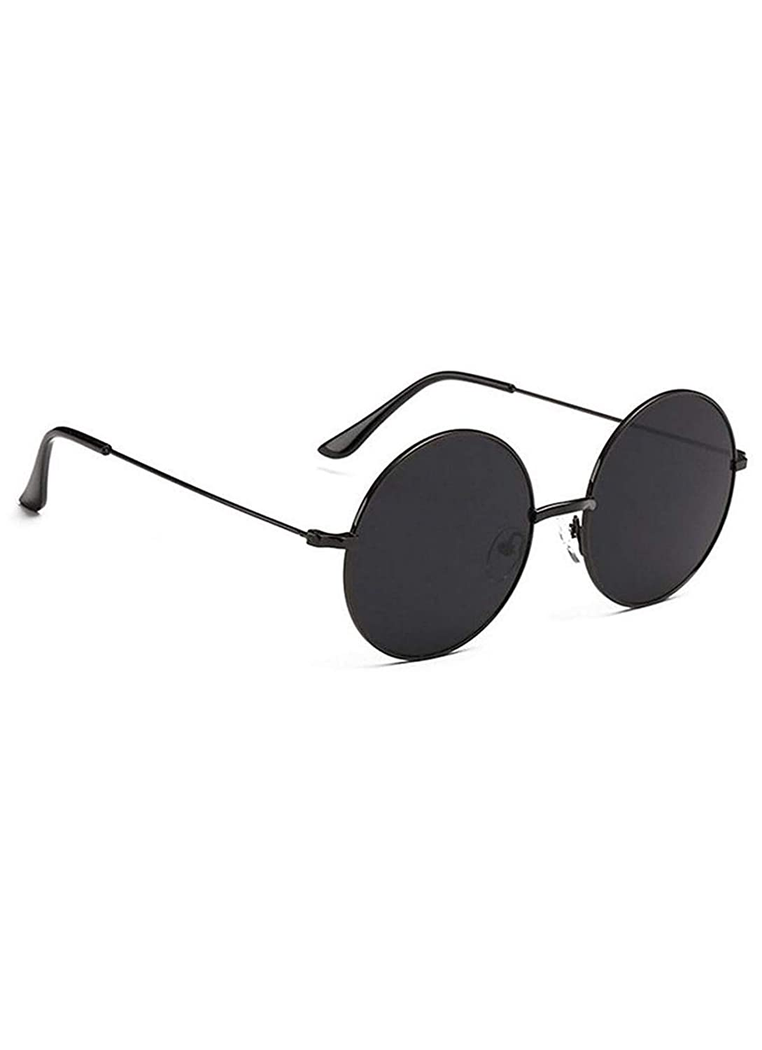 21be33b3f Vulture BLACK FULL ROUND SUNGLASSES For Mens Womens Boys And Girls:  Amazon.in: Clothing & Accessories