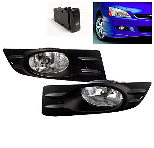 ZMAUTOPARTS Honda Accord EX LX Coupe 2Dr JDM Bumper Fog Lights Lamp+Switch+Harness (Honda Accord 2dr Bumper)
