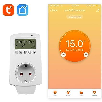 aixi-SHS Wireless Wi-Fi Plug termostato calefacción eléctrica Smart socket control de temperatura