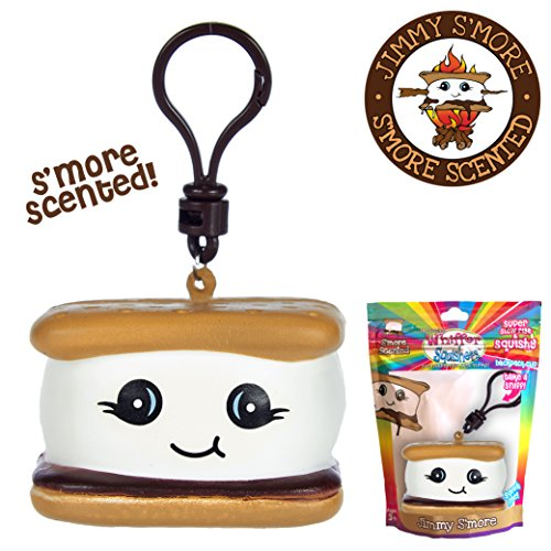 Chocolate Toy Bag - Whiffer Squishers 'Jimmy S'More' Slow Rising Squishy Toy Chocolate S'more Scented Backpack Clip