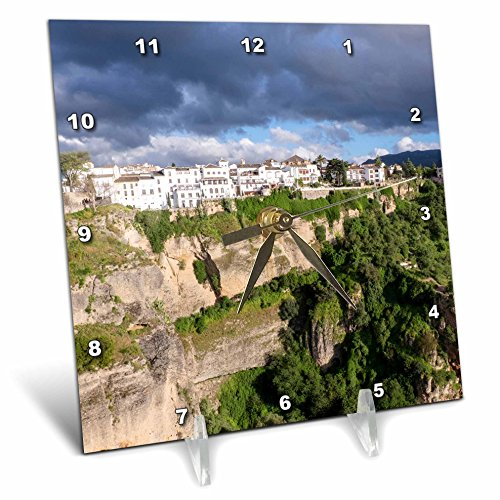 3dRose Danita Delimont - Mountains - Spain, Andalusia, Ronda. - 6x6 Desk Clock (dc_277901_1) by 3dRose
