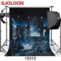 SJOLOON Halloween Night 10 x 10 Computer Printed Photography Backdrop Halloween Theme Photo Background JLT10315