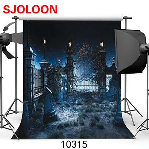 SJOLOON Halloween Night 10' x 10' Computer Printed Photography Backdrop Halloween Theme Photo Background JLT10315 (Halloween Photo Backdrops)