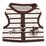 Pinkaholic New York Dakota Pinka Harness, Small, Brown, My Pet Supplies