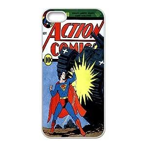 iPhone 5 5s Cell Phone Case White Action Comics SLI_632588