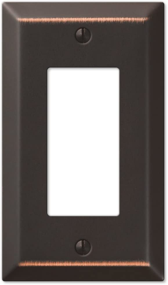 Amerelle Century Single Rocker Steel Wallplate in Aged Bronze