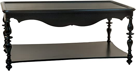 Reual James Cambridge Cocktail Table, Onyx Distressed