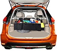 GAMPRO Car Backseat and Trunk Organizer, 30L Large Capacity 5-Pocket Heavy-Duty Seat Back Organizer Travel Cargo Storage Bag with 3 Adjustable Headrest Straps, Space-Saving Design for Cars, SUVs, Vans